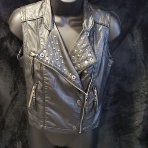 Jackets & Blazers - Studded faux leather vest size S